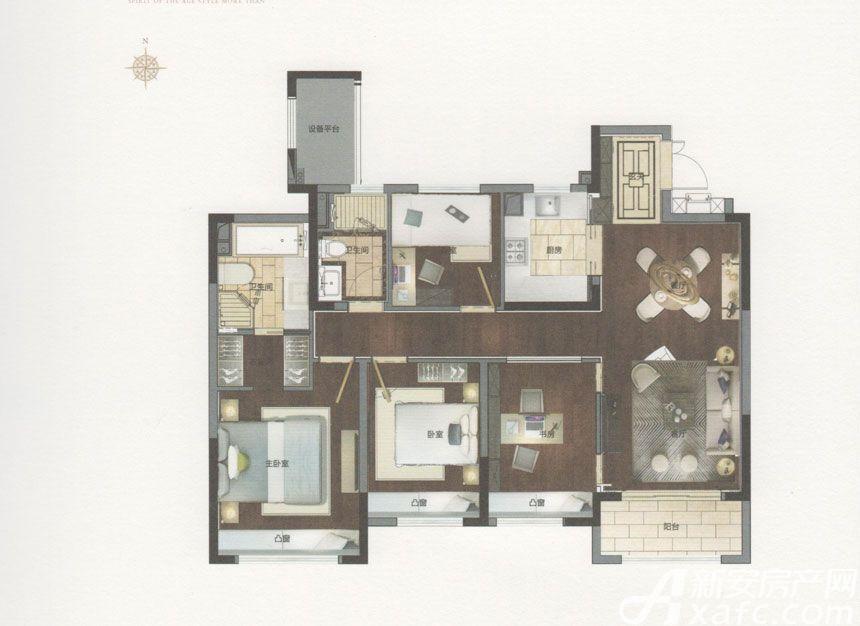 绿地御徽御璟4室2厅132平米