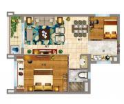 碧桂园·东至首府公寓户型2室1厅50㎡