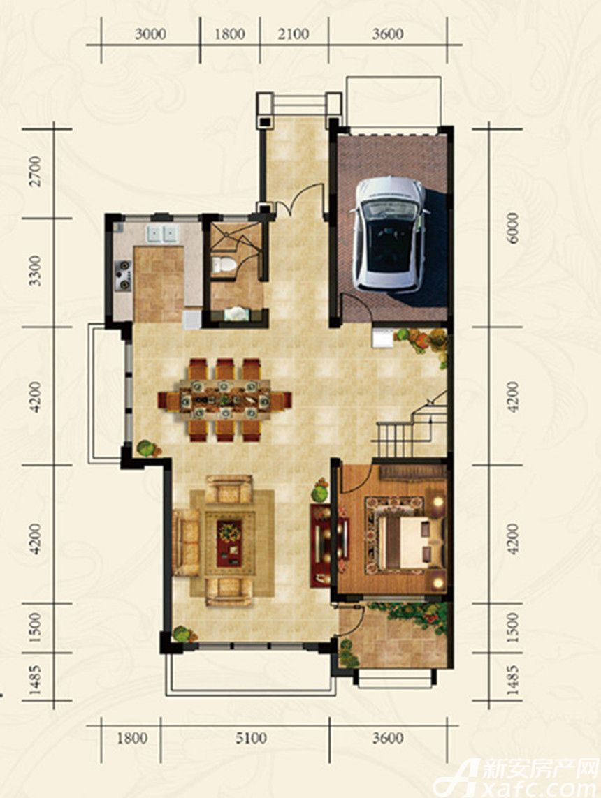 高速云水湾双拼SP1一层1室2厅319.42平米