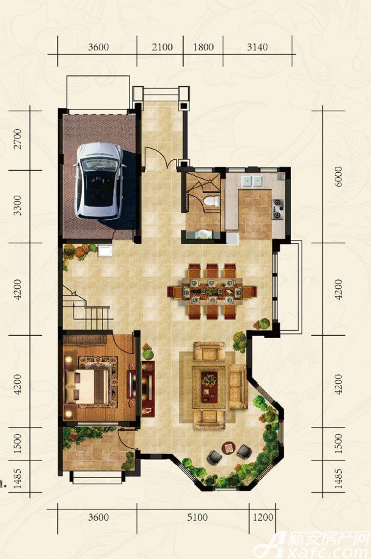 高速云水湾双拼SP2一层1室2厅329.67平米