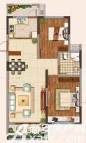 金浩仁和天地C户型2室2厅91㎡
