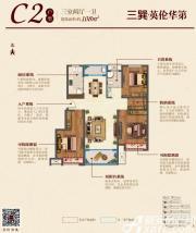 三巽英伦华第(明光)C23室2厅108㎡