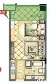 御宾国际·慧谷北侧2室1厅40㎡