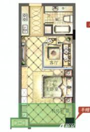 御宾国际·慧谷南侧2室1厅42㎡