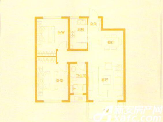 伟星蔚蓝海岸89户型2室2厅89平米