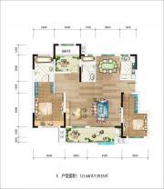 新华九龙首府洋房E3室2厅139.55㎡