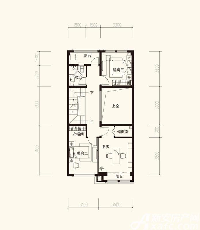 海亮九台别墅A2二层3室1厅411平米