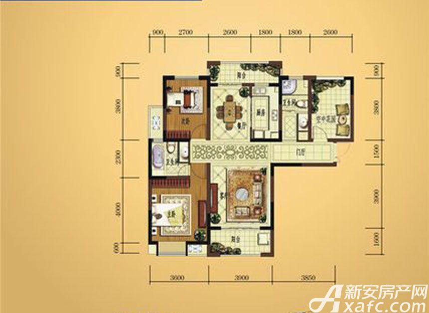 弘宇雍景湾C-13室2厅118.91平米