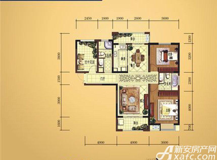弘宇雍景湾C-33室2厅120.33平米