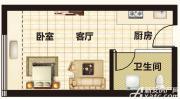 恒大帝景A1/A2/A33户型1室1厅45㎡