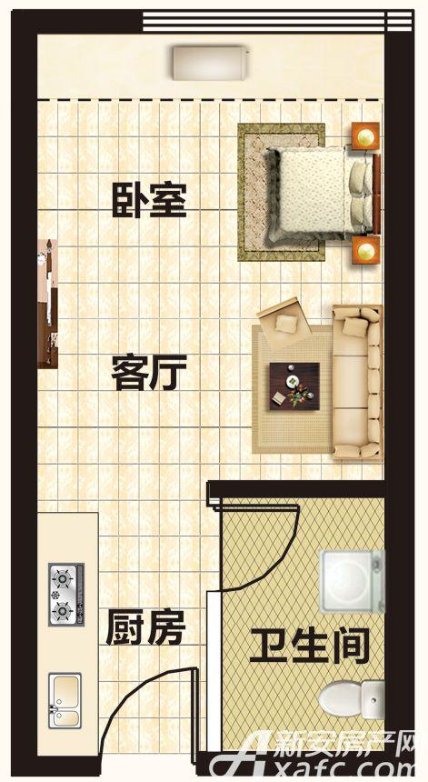 恒大帝景A3-A10/A25/A29/A29/A31/A34户型1室1厅55平米