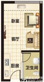 恒大帝景A3-A10/A25/A29/A29/A31/A34户型1室1厅55㎡