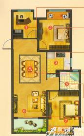 新华联梦想城C3户型3室2厅88㎡
