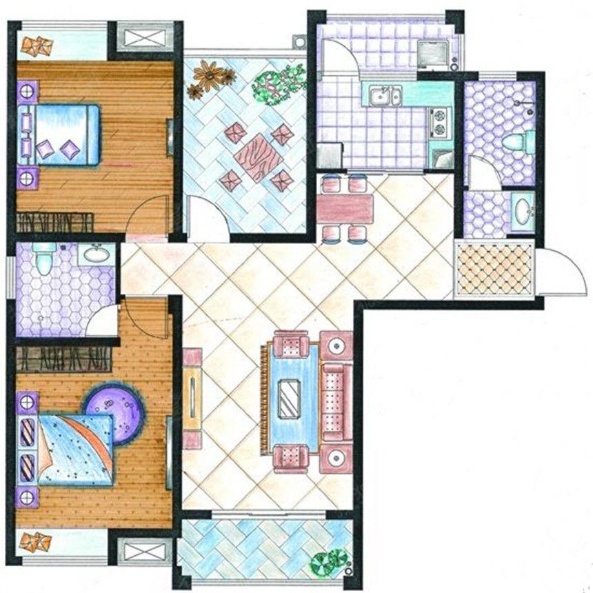 紫金华府D23室2厅112.27平米