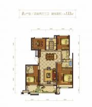 蓝光雍锦半岛B34室2厅133㎡
