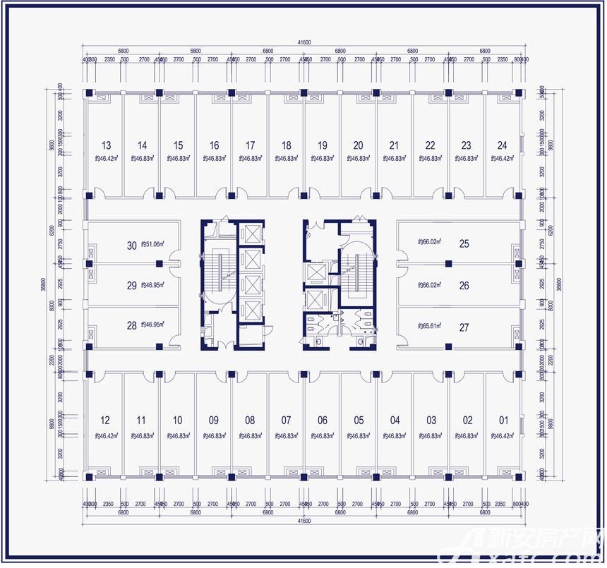 尚泽大都会商办空间3-7层户型