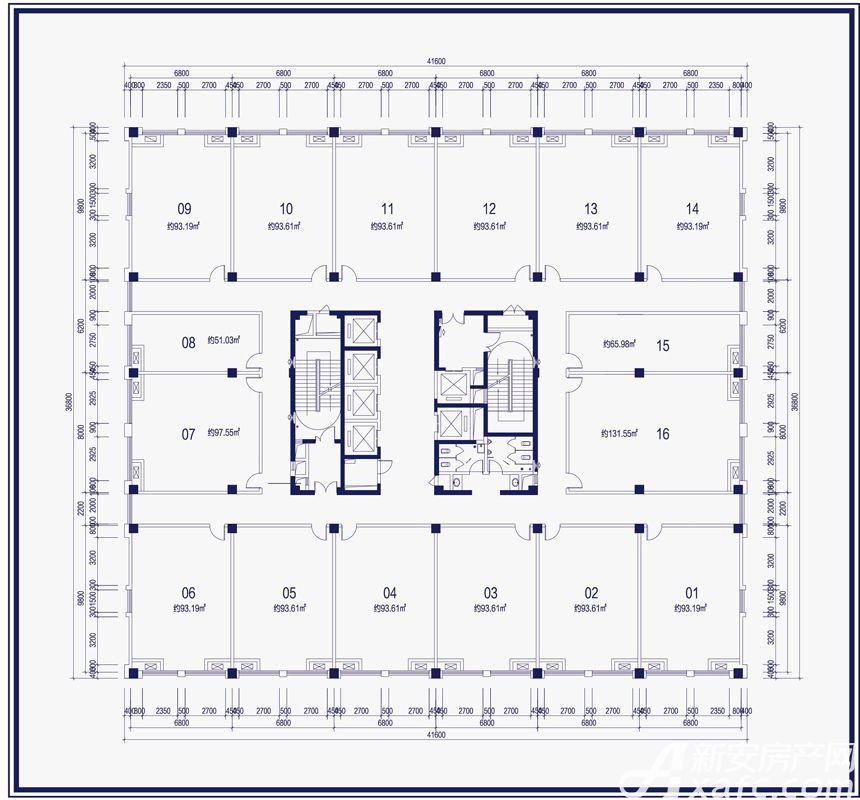 尚泽大都会商办空间8-22层户型