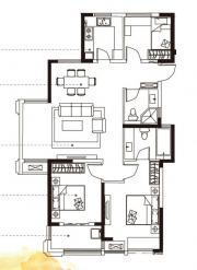 合肥国祯广场G1-A户型3室2厅116.5㎡