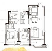 合肥国祯广场G1-2户型3室2厅98.8㎡