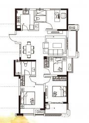 合肥国祯广场G1-3户型4室2厅124.8㎡
