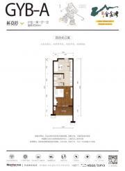荣盛金盆湾GYB-A1室1厅59㎡