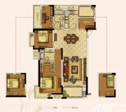 奥园城市天地A1#A户型4室2厅130㎡