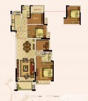 奥园城市天地A1#C户型4室2厅128㎡
