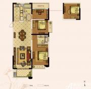 奥园城市天地A2#3#C户型3室2厅119㎡