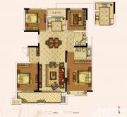 奥园城市天地A6#F户型4室2厅154㎡