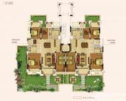 奥园城市天地洋房一层户型4室2厅283㎡