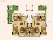 奥园城市天地洋房二层户型4室2厅291㎡