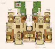 奥园城市天地洋房三层户型4室2厅273㎡
