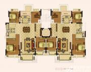 奥园城市天地洋房四层户型4室2厅265㎡