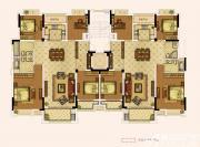 奥园城市天地洋房五层户型4室2厅265㎡