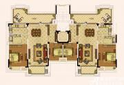 奥园城市天地洋房八层户型2室3厅204㎡