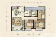 华冶翡翠湾B4-2户型3室2厅93㎡