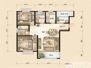 华冶翡翠湾A2-1户型3室2厅124㎡