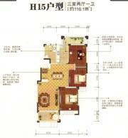 银河湾H153室2厅116.1㎡