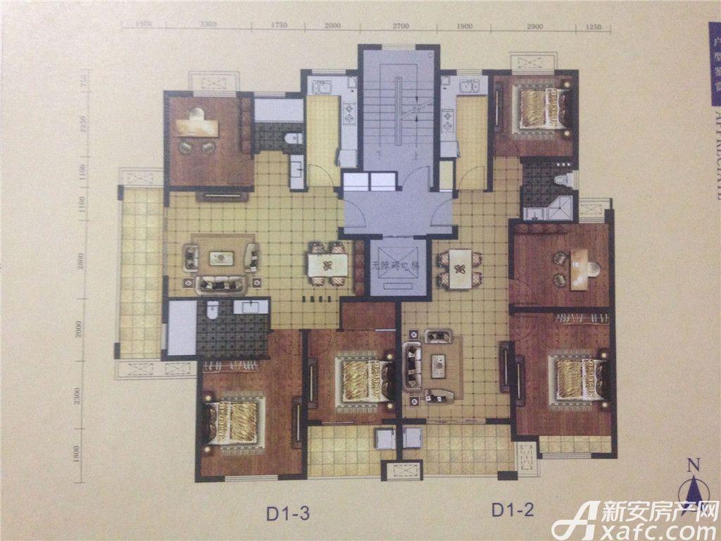 天景庄园D3室2厅115平米