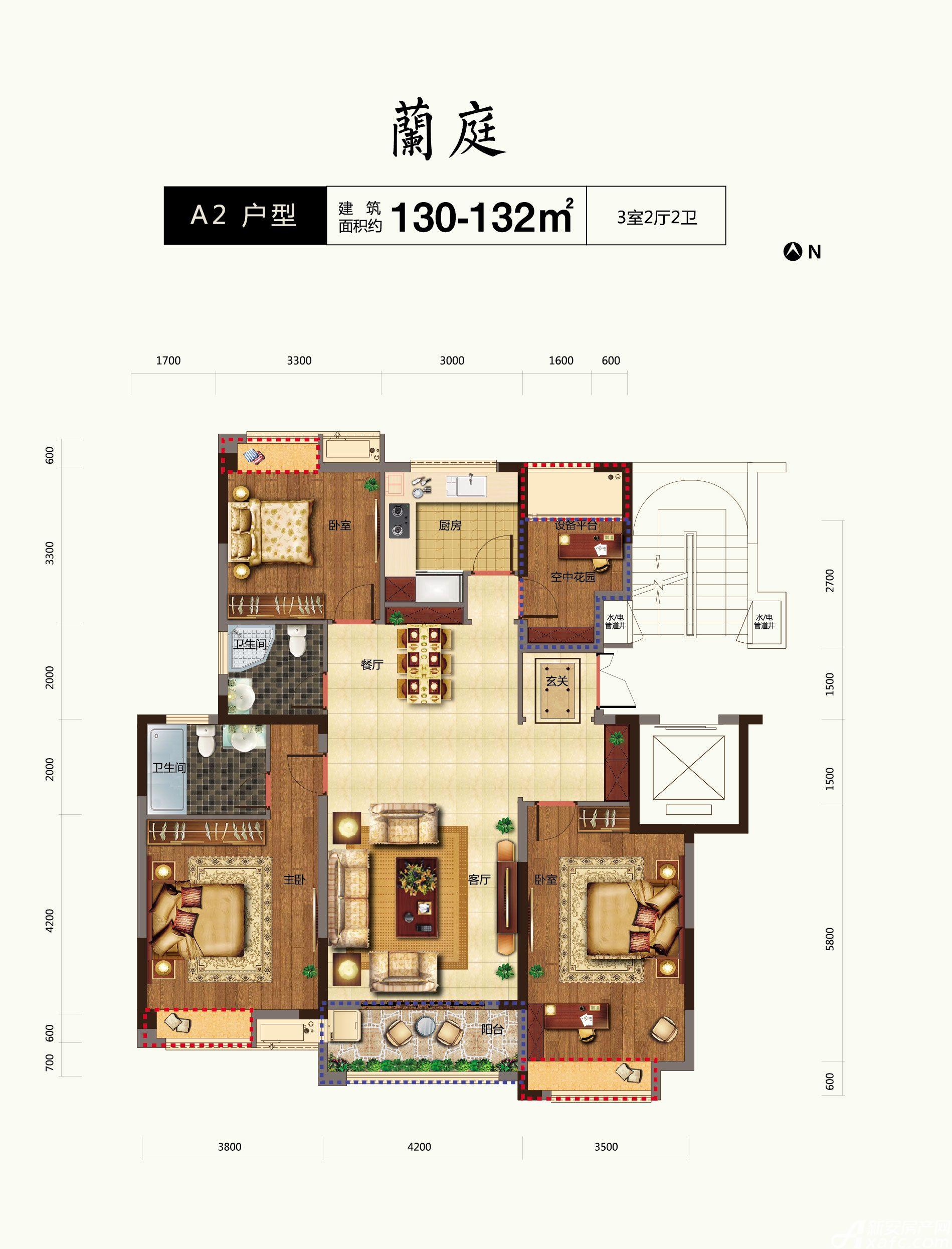 金皖御璟兰庭A23室2厅130平米