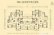恒大城(14#-1)02户型3室2厅90㎡