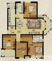 东方明珠海上御园C1户型4室2厅138.93㎡