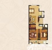 宝龙华庭E户型2室2厅104.8㎡