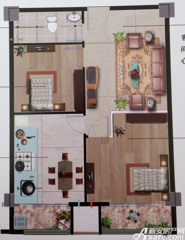 新沪浦大厦B户型2室2厅75.16平米