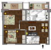 新沪浦大厦H户型2室2厅76㎡