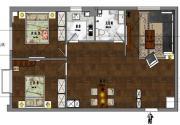 新沪浦大厦I户型2室2厅103.85㎡