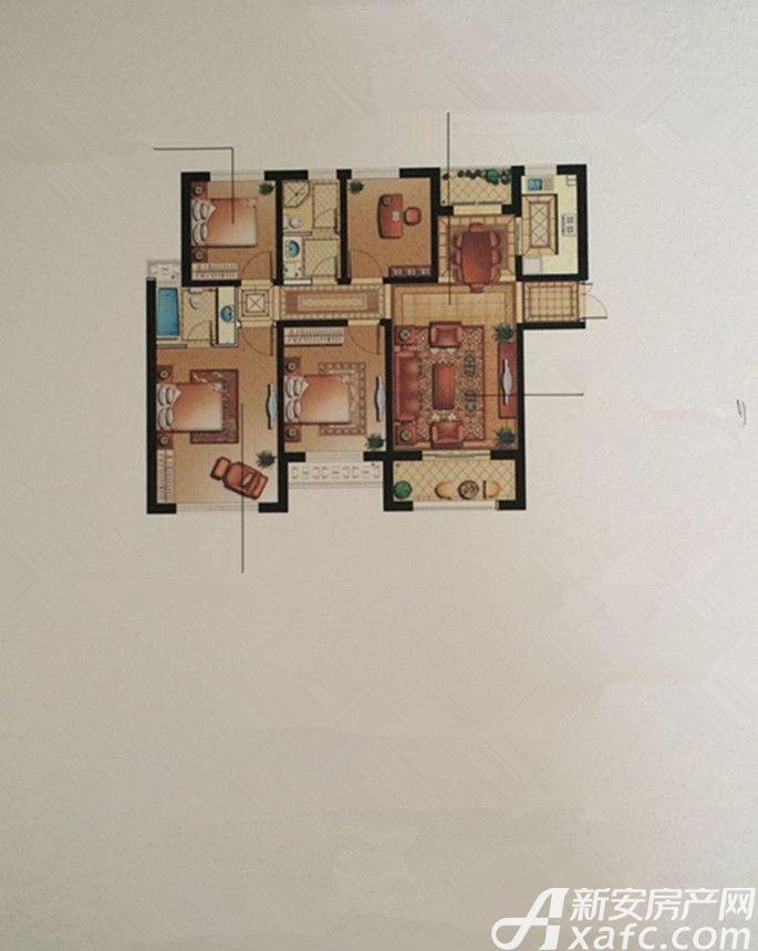 华府天地A户型4室2厅152平米