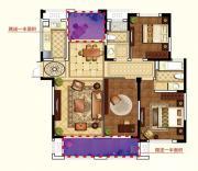 和泰国际广场E户型3室2厅126㎡