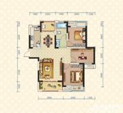 绿地臻城4#Q3户型3室2厅105.35㎡