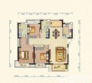 绿地臻城4#Q6户型3室2厅135.8㎡